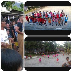 Suasana perayaan HUT Proklamasi Kemerdekaan RI ke-71 di Desa Bahu Kecamatan Siau Timur, Rabu (17/8)