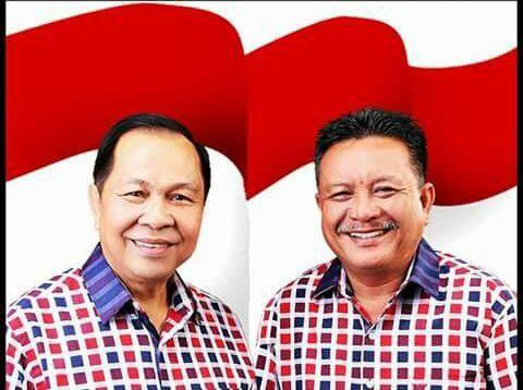 Walikota Bitung M J Lomban dan Wakil Walikota Bitung Ir Maurits Mantiri.