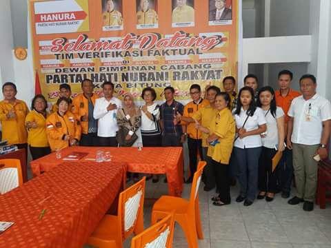 Jajaran Partai Hanura bersama KPU dan Panwaskota Bitung