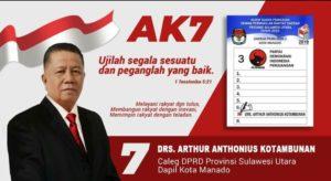 Caleg Pdi ip Arthur Anthon nomor 7