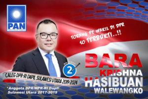 caleg DPR RI PAN Dapil Sulawesi Utara Khrisna Hasibuan Walewangko