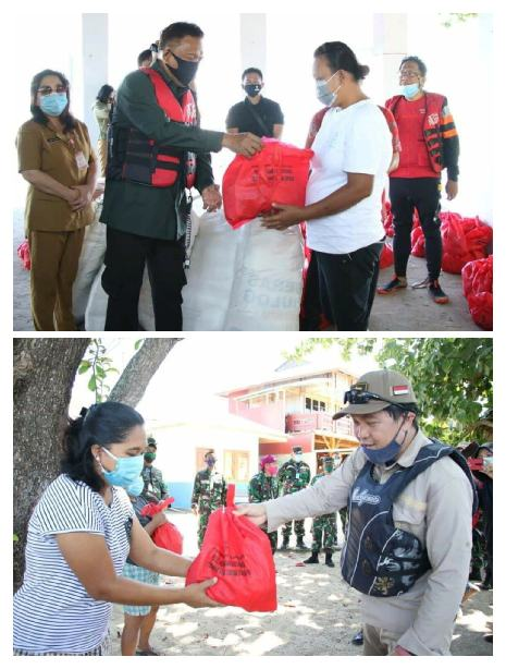 Sasar Tiga Pulau Gubernur Sulut dan Forkopimda Salurkan Bantuan 1200 Bapok