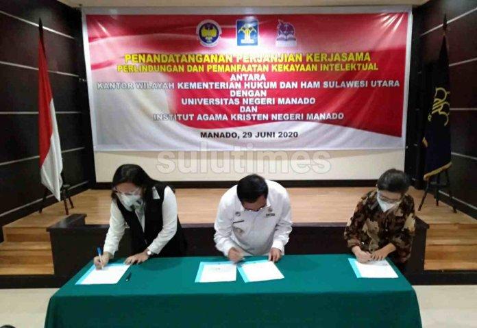 IAKN dan Kemenkumham Sulut Tandatangani Perjanjian Kerjasama Perlindungan dan Pemanfaatan Kekayaan Intelektual