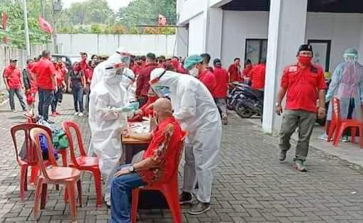 Peserta Musancab DPC PDIP Manado-Minut-Tomohon Jalani Rapid Test