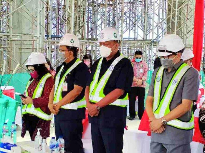 Progres RSUD Provinsi Sulut Masuk Tahap Topping Off