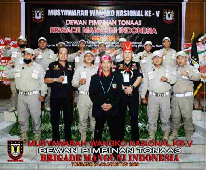 Tonaas Wangko Lendi Wangke Kembali Nahkodai Brigade Manguni Indonesia