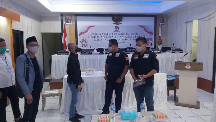 Bawaslu Sulut Monitoring Proses Tahapan Pendaftaran di KPU Minut