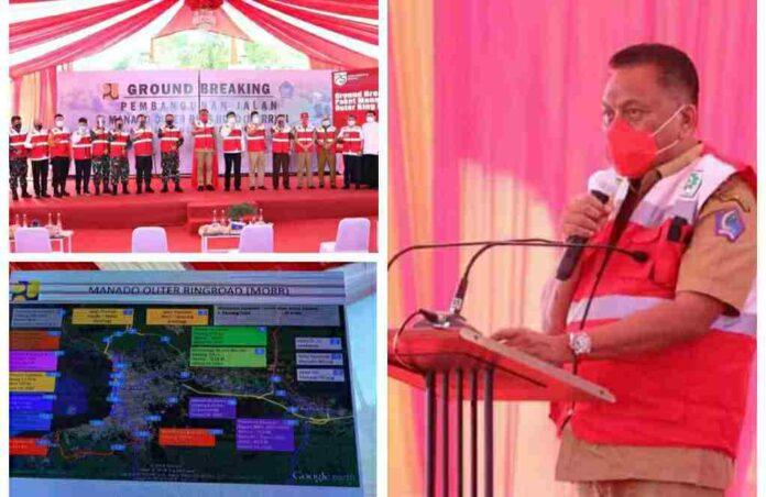 Gubernur Olly Resmikan Pembangunan Ring Road III