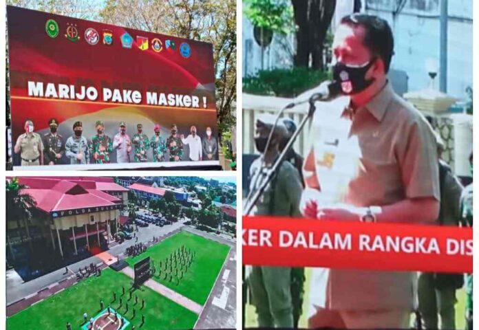 Pjs Gubernur Agus Fatoni Launching Gerakan Sulut Sejuta Masker