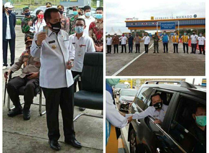 Pjs Gubernur Agus Fatoni Buka Operasional Jalan Tol Manado-Bitung