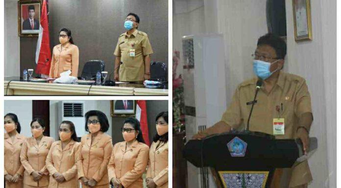 Pengurus DWP Kabupaten/Kota Masa Bakti 2019-2024 Dikukuhkan Sekprov Silangen