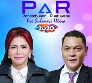 Minggu Sore VAP-HCMR Mendaftar di KPU Sulut