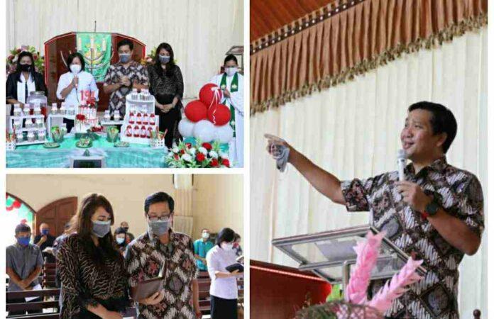 Wagub Kandouw Ajak Warga Gereja Terus Sebar Kedamaian dan jadi Sumber Cinta Kasih