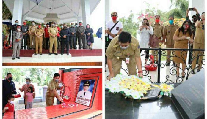 Wagub Kandouw Ziarah Ke Makam Mantan Gubernur dan Wagub Sulut