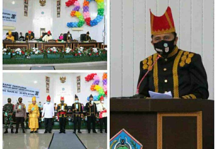 Pjs Gubernur Fatoni Launching Gerakan Sulut Bermasker di HUT Kota Bitung