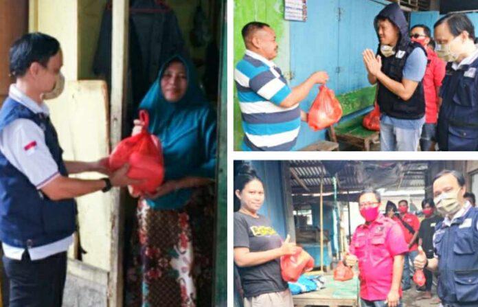 Rumah SandiUno Indonesia Salurkan Bantuan Sembako di Kota Bitung