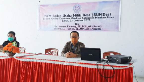 PKM Unsrat Bahas Program BUMDes bersama Pemdes Kawiley