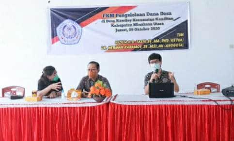 PKM Unsrat Paparkan Pengelolaan Dandes kepada Pemdes Kawiley
