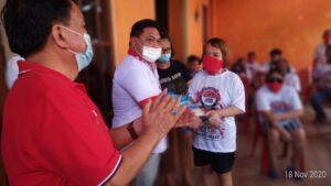 Relawan SOS Rayakan HUT Olly Dondokambey Bersama Komunitas Disabilitas Netra Paal 4