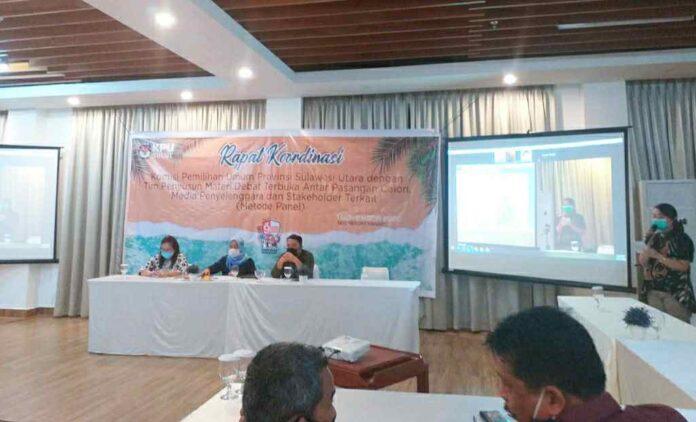 KPU Sulut Jadwalkan 5 November Debat Pertama Cagub-Cawagub Sulut
