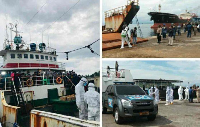 Debarkasi 155 ABK WNI dari Cina Berjalan Lancar dengan Penerapan Protokol Covid-19