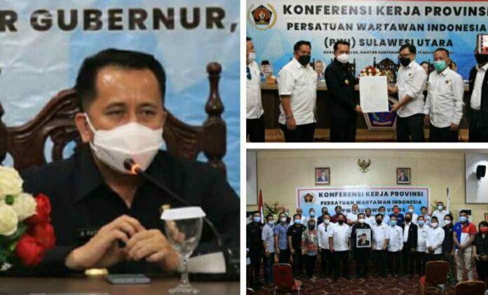 Pjs Gubernur Fatoni Ajak PWI Sinergi Majukan Pembangunan Sulut