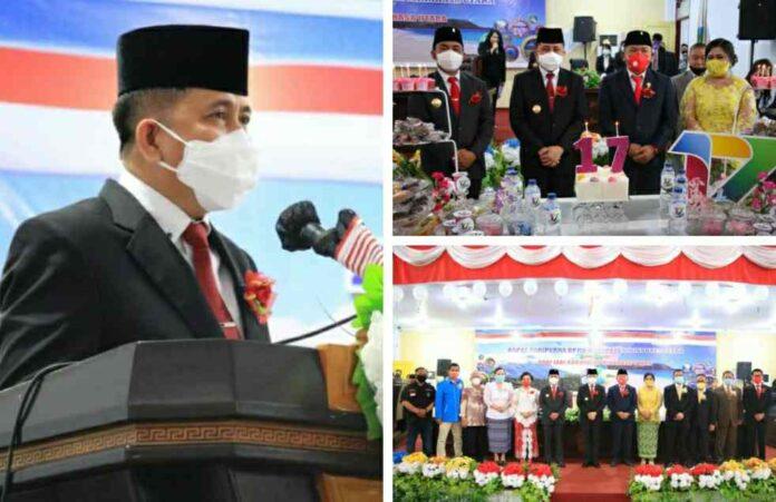 Begini Ungkapan Pjs Gubernur Fatoni saat Menghadiri HUT ke-17 Minahasa Utara