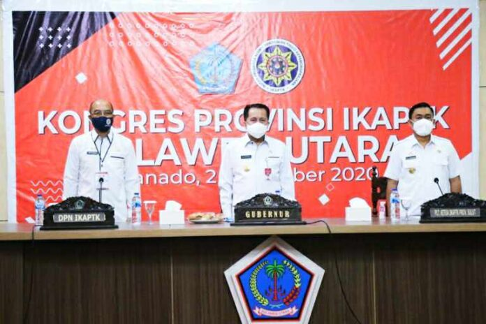 Dihadapan Kongres IKAPTK Pjs Gubernur Fatoni Ingatkan Pentingnya Semangat Kekeluargaan dan Profesionalisme