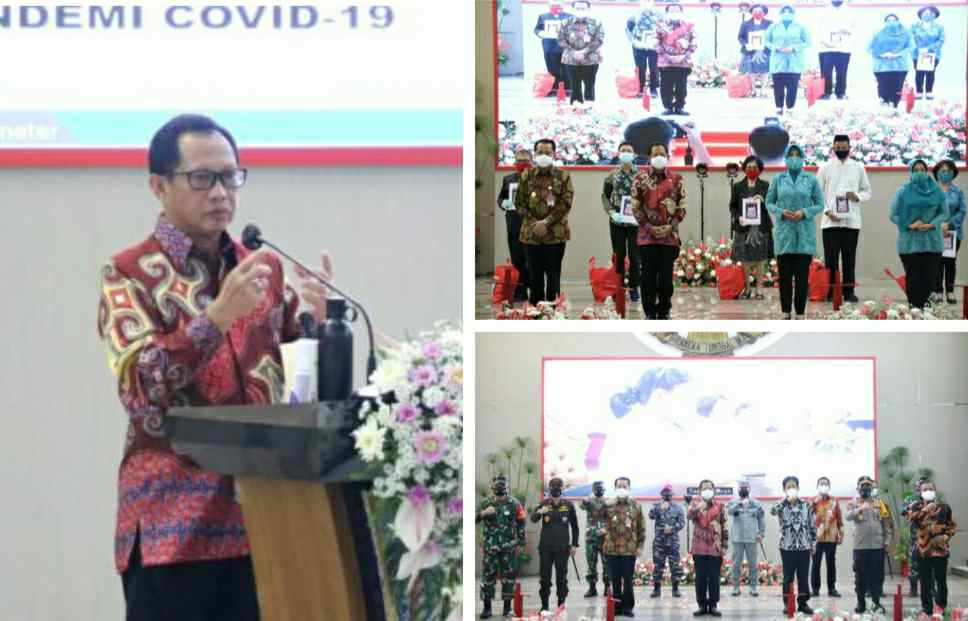 Mendagri Tito Launching Gerakan Sulut Bermasker