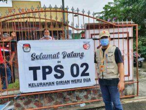 Mantan Komisioner KPU Bertugas PTPS di TPS 2 Kelurahan Girian Weru Dua