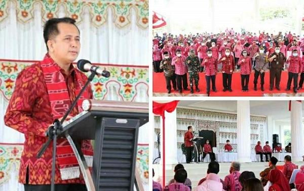 Ingatkan ASN Pemkab Bolmong, Pjs Gubernur Fatoni: Loyalitas, Totalitas dan Militansi Penting