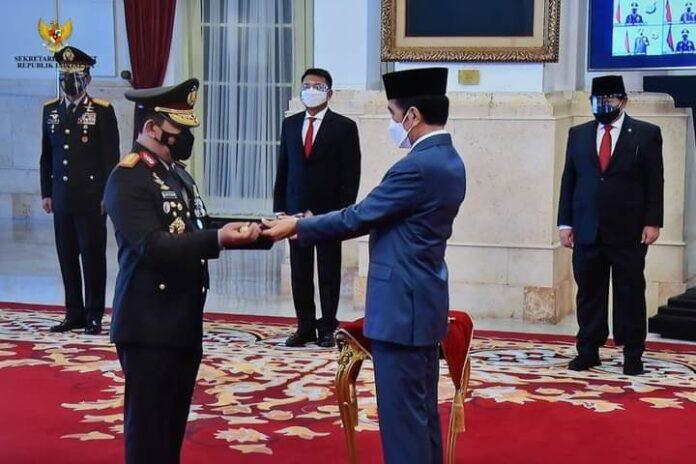 Presiden Jokowi Lantik Kapolri Jenderal Pol Listyo Sigit Prabowo