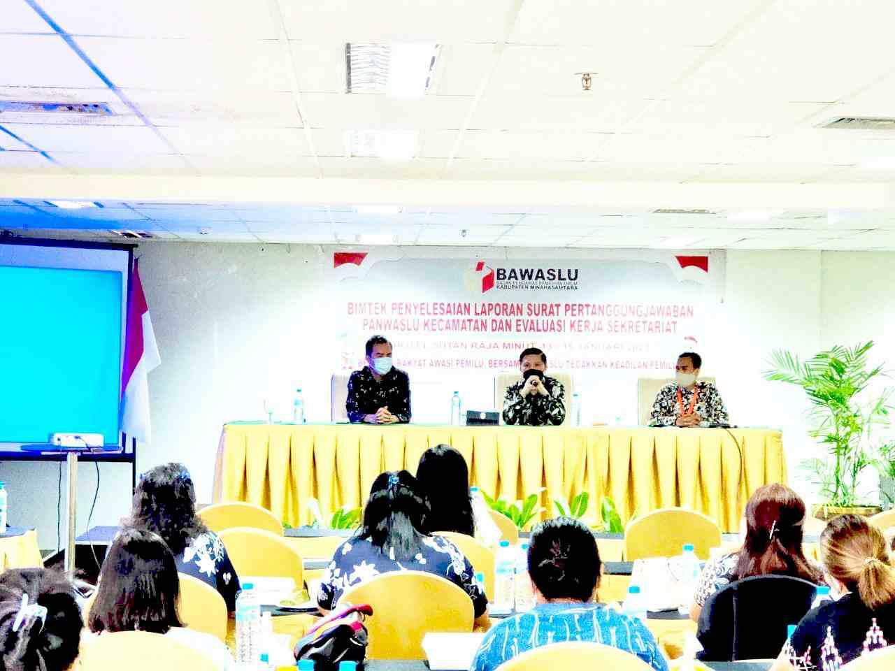 Panwaslu Kecamatan se-Minut Diingatkan Sinergi Laporkan SPJ