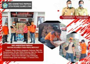 Pemprov Sulut Quick Respon Salurkan Bantuan Korban Banjir dan Longsor di Manado