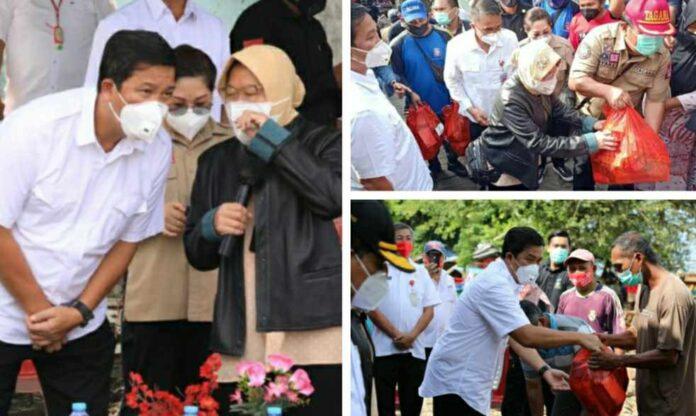 Mensos Risma Bersama Wagub Kandouw Tinjau Lokasi Banjir dan Longsor di Manado-Minahasa