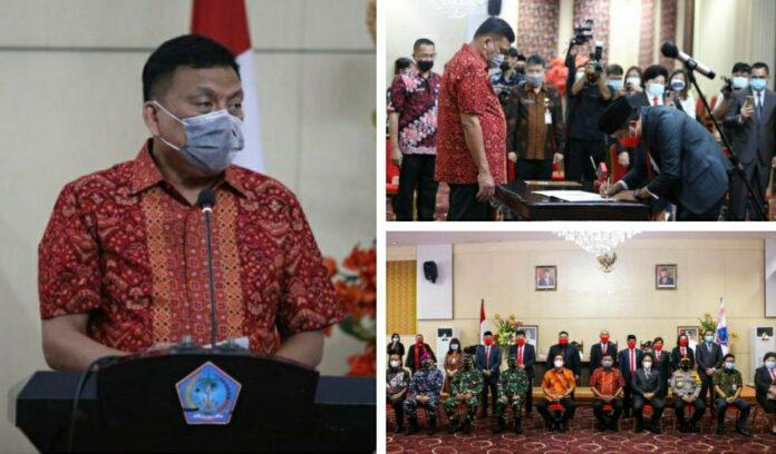 7 Anggota KPID Sulut Dilantik Gubernur Olly