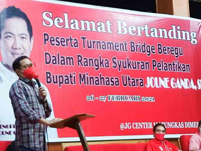 Bupati JG Tutup Turnamen Bridge Beregu Off-line Pertama