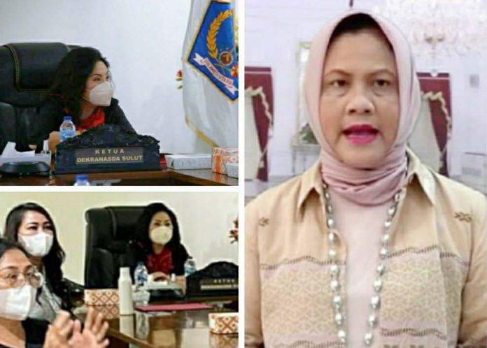 Rita Tamuntuan Ikut Rakernas Dekranas 2021 Dibuka Ibu Negara Iriana