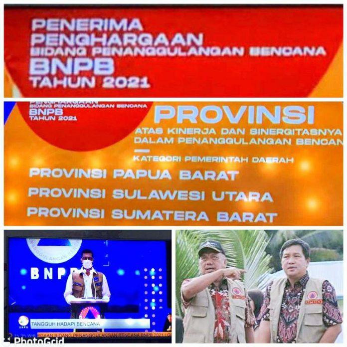 Sulut Raih Penghargaan Terbaik dari BNPB