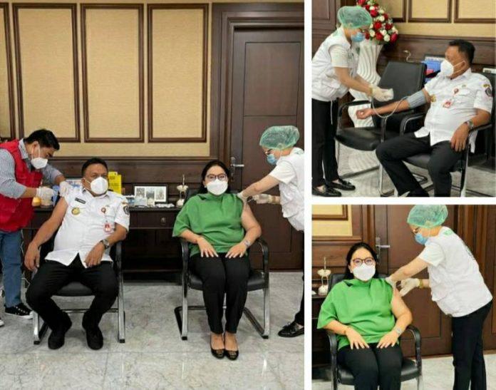 Gubernur Olly dan Ibu Rita Ajak Torang Sukseskan Program Vaksinasi Covid-19