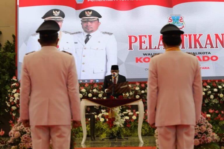Gubernur Olly Lantik Andrei-Richard Walikota dan Wakil Walikota Manado 2021-2024