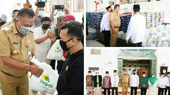 3000 Paket Ramadhan untuk Kaum Dhuafa Dibagikan Gubernur Olly Bersama Baznas