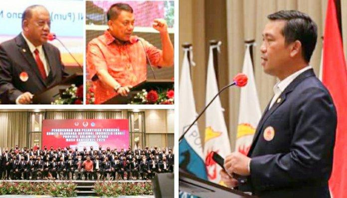 Pengurus KONI Sulut 2021-2025 Dilantik Ketum Marciano Norman