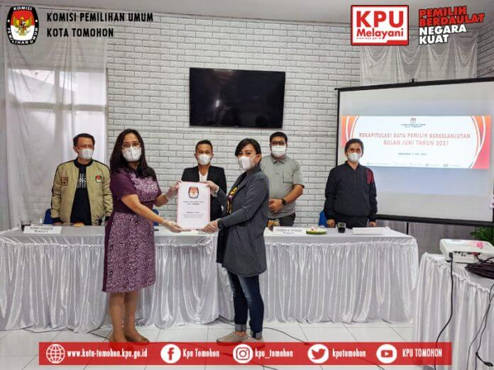 KPU Tomohon Gelar Rekapitulasi Pemutakhiran Data Pemilih Berkelanjutan