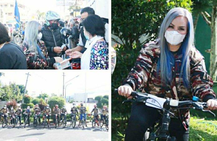 Usai Bersepeda KB FKPPI Tomohon Bagi-bagi Masker