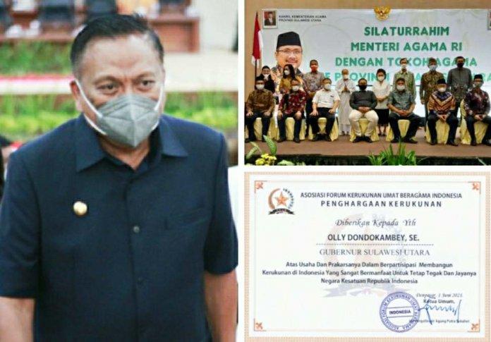 ToGa Indonesia dan Sulut Sepakat Gubernur Olly Sandang Bintang Mahaputra Utama