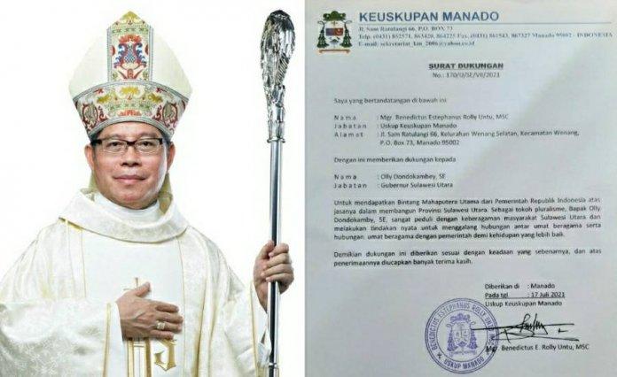 Keuskupan Manado Dukung Gubernur Olly Dapatkan Penghargaan Bintang Mahaputra Utama