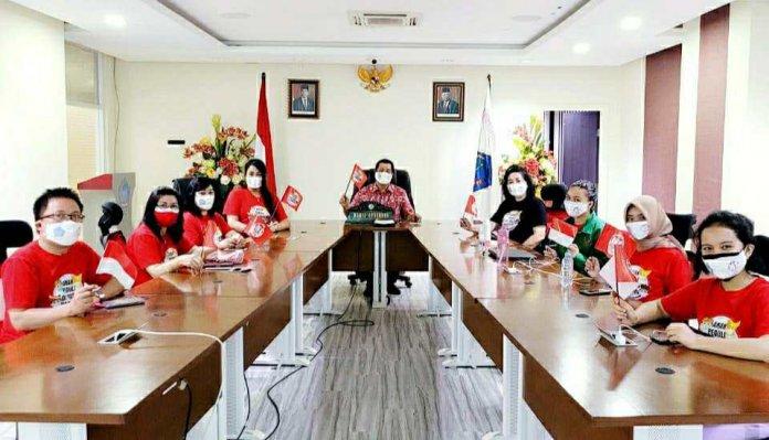 Wagub Kandouw dan Kadis P3A Ikuti Arahan Presiden Jokowi