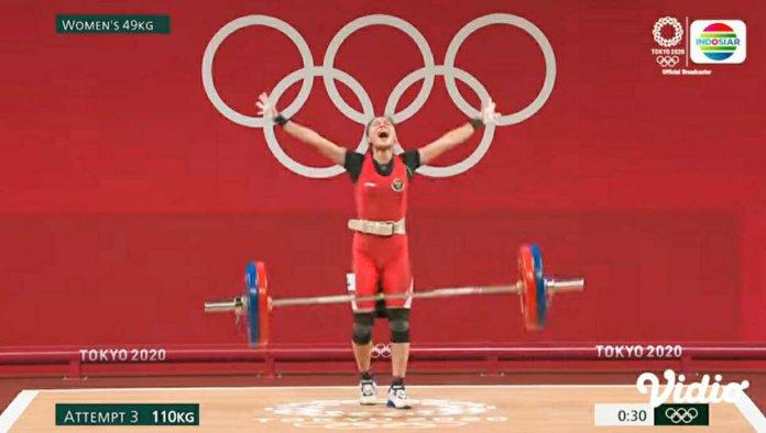 Lifter Cantika Sumbang Medali Pertama Indonesia di Olimpiade Tokyo