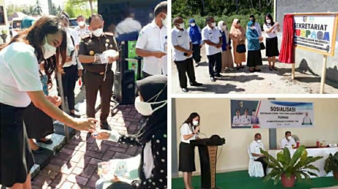 dr Devi Resmikan Puspaga dan Kukuhkan Forum Anak Bolmut